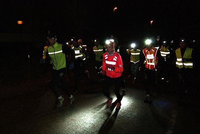 Ida Gjermundshaug Pedersen var først ut fra start i Byflaten og holdt alle unntatt to menn bak seg helt til mål. (Foto: Stein Arne Negård)
