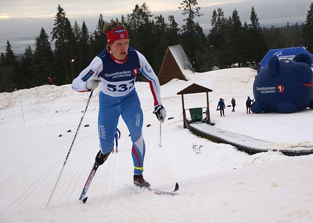 Kristian Græsli inn til beste tid av seniorene i prologen. (Foto: Stein Arne Negård)