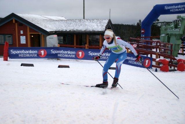 Mari Robøle Lien på veg til sin 3. strake tour-seier på Budor mandag. (Foto: Stein Arne Negård)