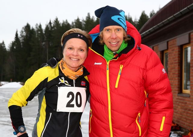Rita Steinsvik og Sondre Amdahl var klart raskest på Sessvollmoen (foto: Bjørn Hytjanstorp)