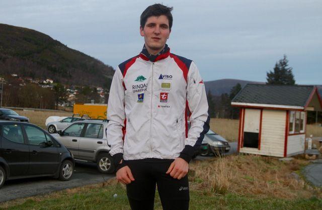 Joachim Tranvåg, Rindal IL tok en klar seier i dagens løp. Foto: Helge Fuglseth