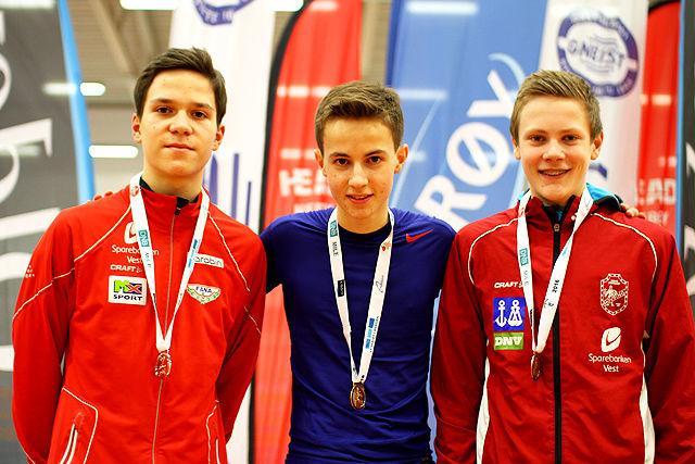 Premiepallen G14 på 600 m: Svein Oscar Skilleås, Herman Ellingsen og Sebastian Wichstrøm Rolland.