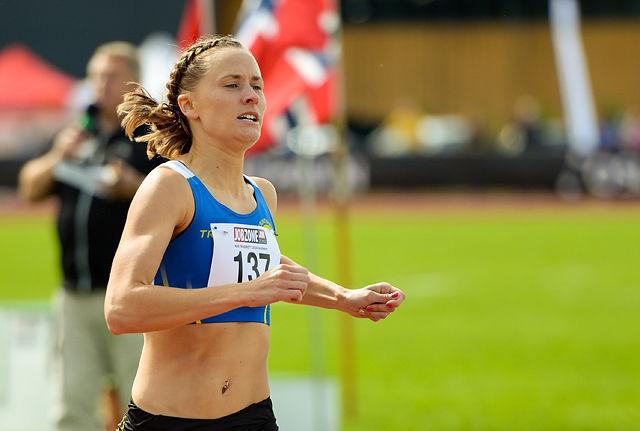 Hedda Hynne løp på 2.03,96, og det holdt ikke til finaleplass. (Arkivfoto: Erling Pande Braathen)
