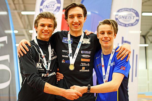 Premiepallen i menn senior: Lars Lunde, Trygve Feidje Mjelde og Tomas Jack Skjæråsen.
