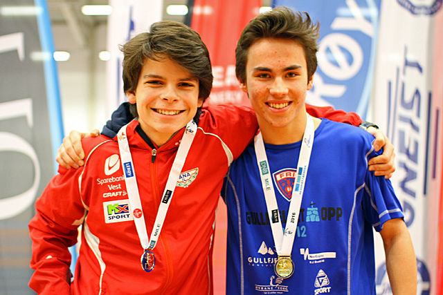 Casper August Friele Faye og Joel Rørbakken på toppen av premiepallen.