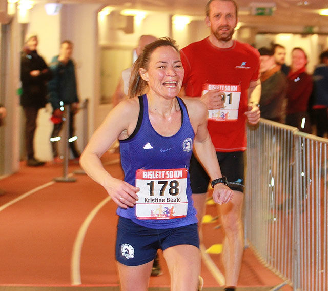 Kristine Beate Walhovd vant Bislett 50 km på fire minutter raskere tid enn da hun ble nr. 2 for to år siden. Foto: Kjell Vigestad
