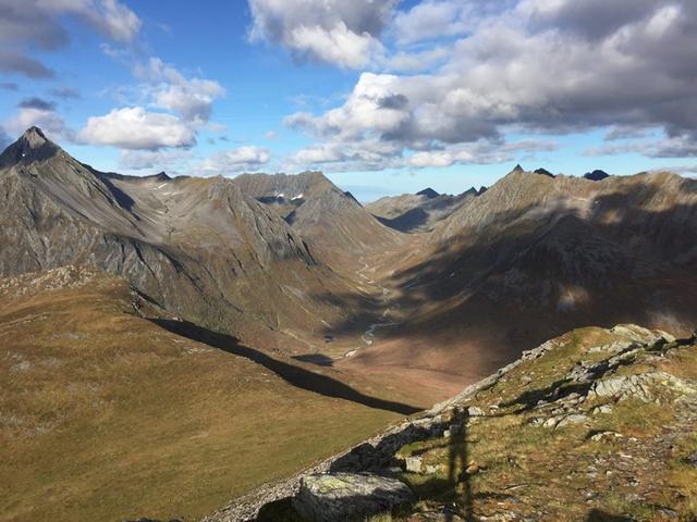 Fra løypas høgeste punkt (Sandhornet 909 moh)