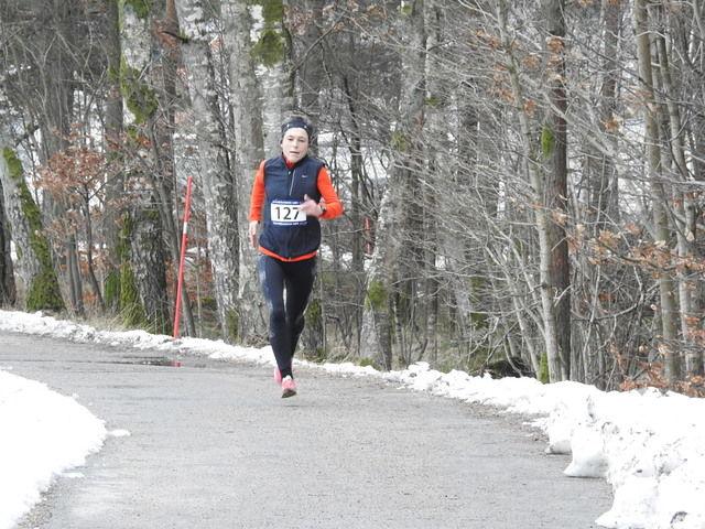 Inger Saanum, GE Healthc beste dame på 10 km på 39.29. Foto: Arrangør