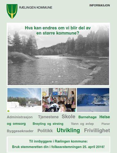 Forside brosjyre om kommunereform og folkeavstemning