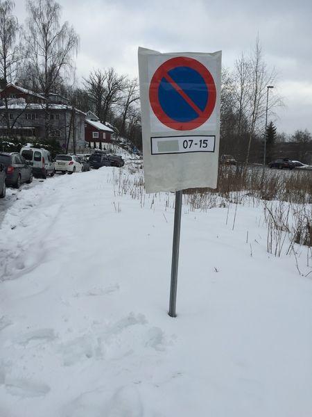 Parkering forbudt midlertidig