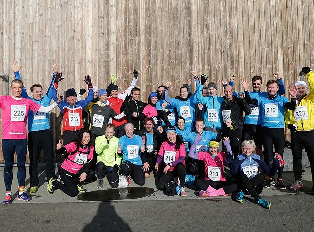 Deltakerne fra Landsmøtet til Kondis møtte veggen etter full innsats i 5 km.  Foto: Per Inge Østmoen