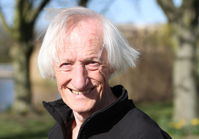 Ed Whitlock hadde alltid et smil på lur til både kjente og ukjente. (Foto: Runar Gilberg)