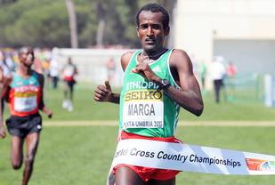 Etiopiske Imame Merga ble verdensmester i terrengløp i 2012. (Foto: Mark Shearman)