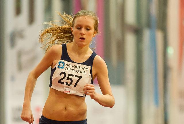 Aurora Dybedokken imponerte med å bli nummer to på 5000 m i det amerikanske studentmesterksapet. (Arkivfoto: Helge Langen)