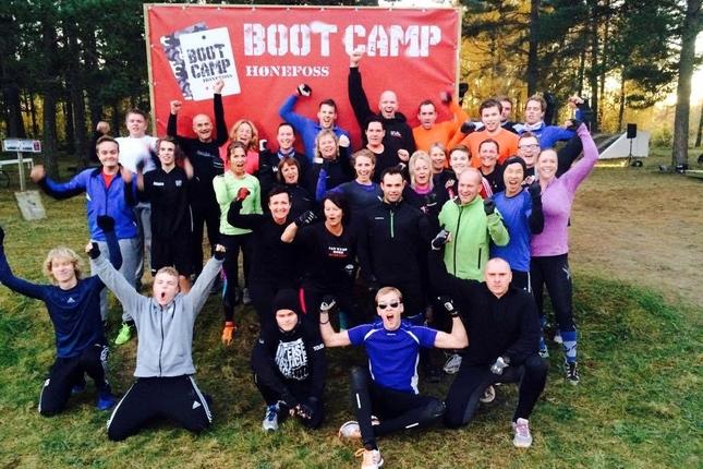 En helt vanlig tirsdag, hos Bootcamp Hønefoss (Foto: arrangør)