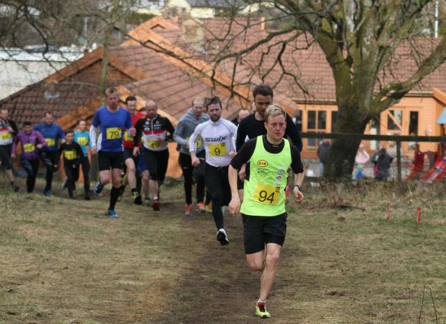 Torstein Tengsareid tok tidlig teten i årets første løp i trimkarusellen i Egersund.  Foto: Thomas Hetland.