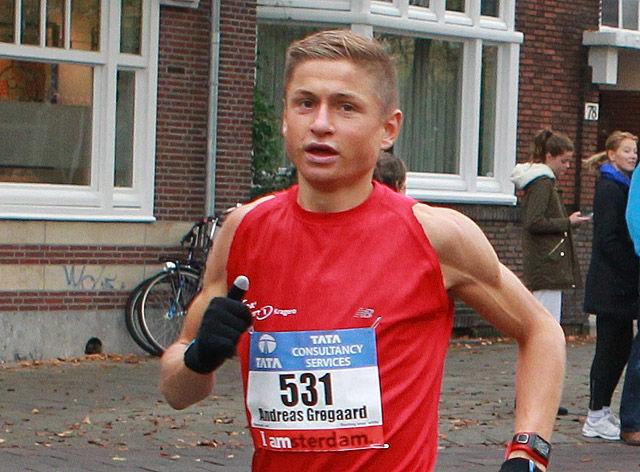 Andreas Grøgaard forbedra persen med nesten 4 minutter da han løp Rotterdam Marathon på 2.33.06. (Arkivfoto: Kjell Vigestad)