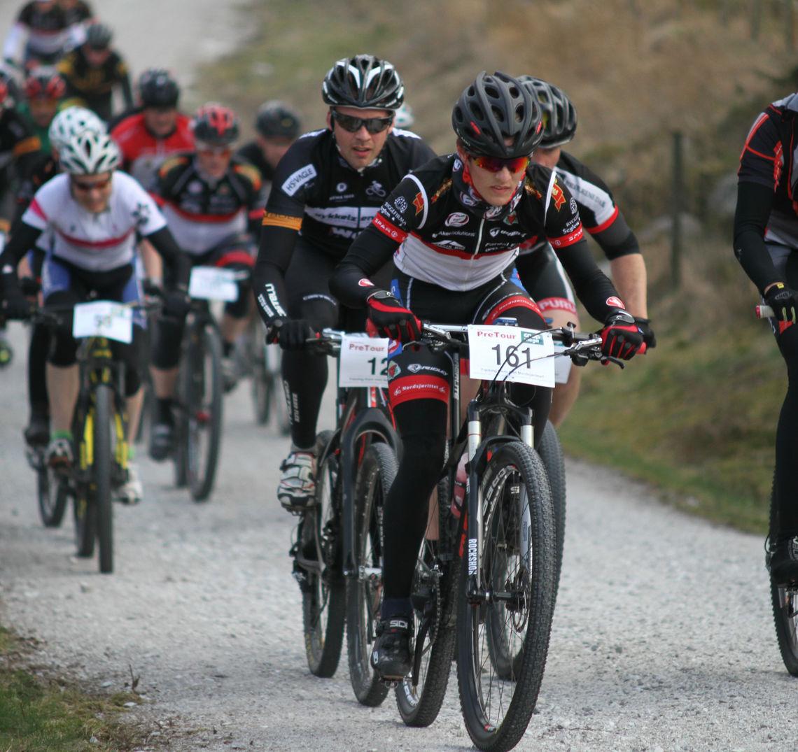 Kjell I Sandsmark fra Dalane SK sykler et bra ritt.   Foto: Thomas Hetland.