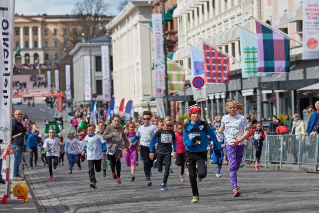 Fra Barneløpene i Sentrumsløpet. Foto: Stian S. Møller