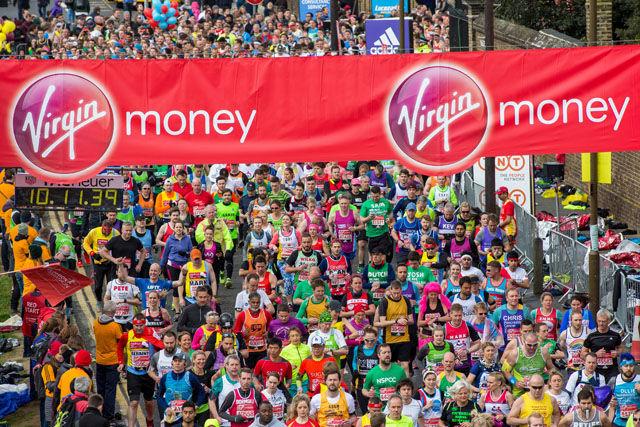 Start i Greenwich: 39523 startet i søndagens maraton, 39045 kom i mål. (Foto: David Levenson/arrangøren)