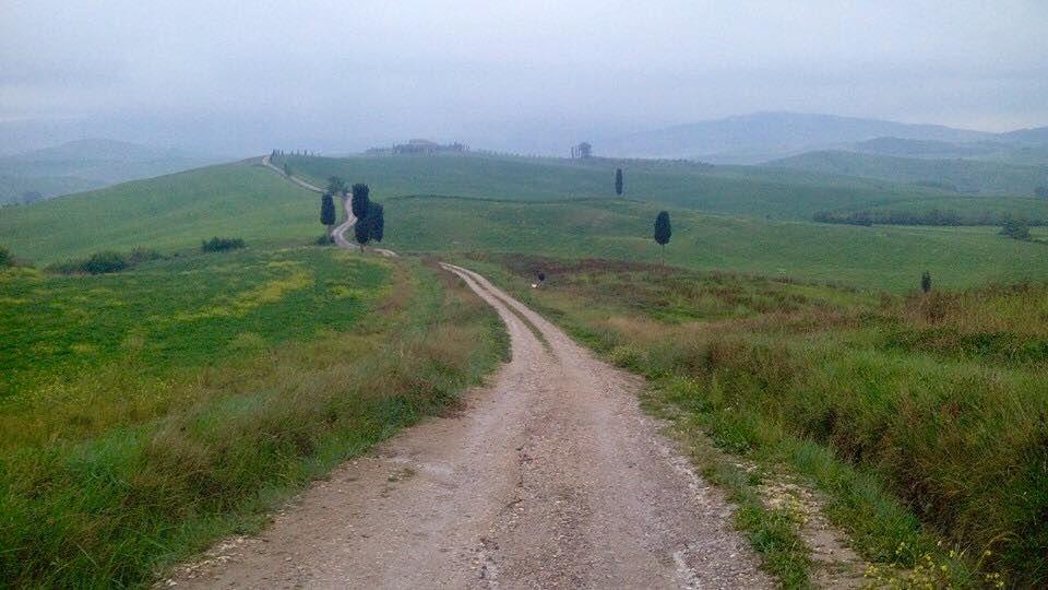 Fra løypa i vakkert Toscanalandskap (arrangørfoto).