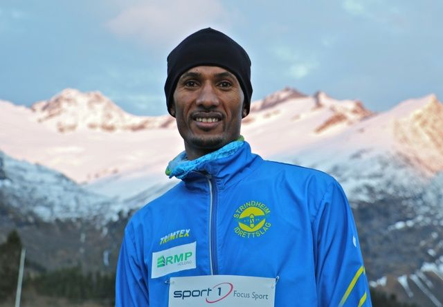 Ebrahim Abdulaziz satte ny løyperekord på Konradløpet. Den lyder 13:30 Foto: Martin Hauge-Nilsen