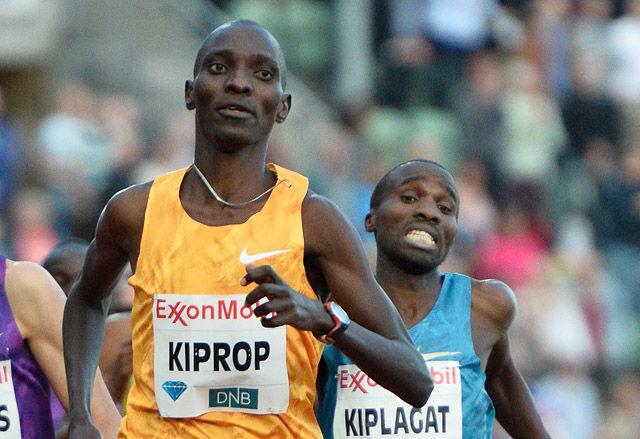 Asbel Kiprop var like sterkt som det mange på forhånd mente han ville være. Landsmannen Silas Kiplagat ble henvist til tredjeplass. (Arkivfoto: Bjørn Johannessen)
