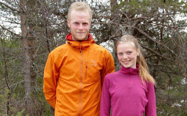 Per Strøm og Kristine Hjelbakk Hole vant i dag motbakkeløpet opp mot Emblemsfjellet