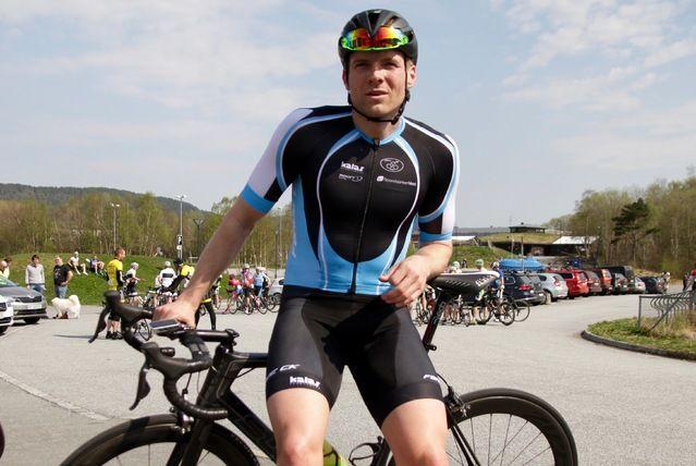 Thomas Grønfur, Førde CK vant i dag det 80 km lange Ålesundsrittet som gikk i 2 runder på veier  rundt Emblemsfjellet