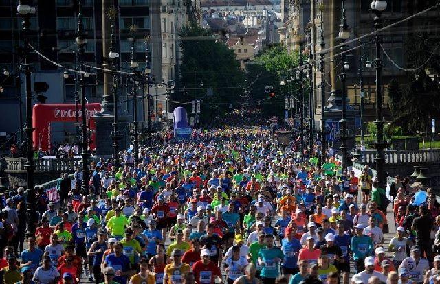 Fra årets Praha Marathon som gikk under sommerlige forhold (Arrangørfoto)