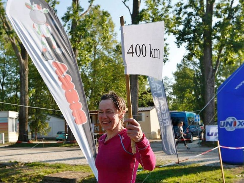 Ny norsk rekord på Ragnhild, som på bildet passerer 400 km. Til slutt ble det altså nesten 478 kilometer.
