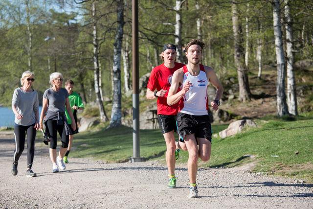 Mathias Nipen, Tyrving var raskest av alle på to runder på Sognsvann på onsdag og noterte 21.46  Foto: Sylvain Cavatz