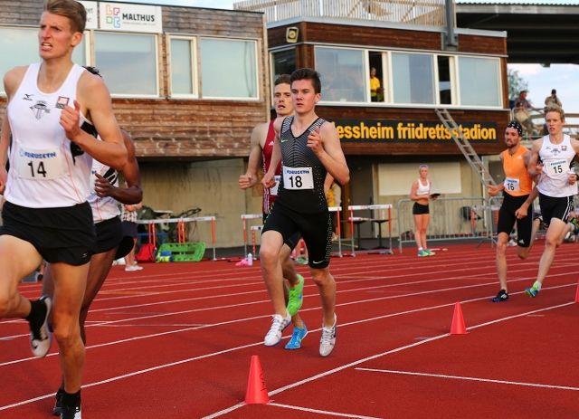 En av mange som satte ny pers på Jessheim friidrettsstadion var Jakob Ingebrigtsen (foto: Bjørn Hytjanstorp)
