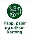 symbol papp papir drikkekartong