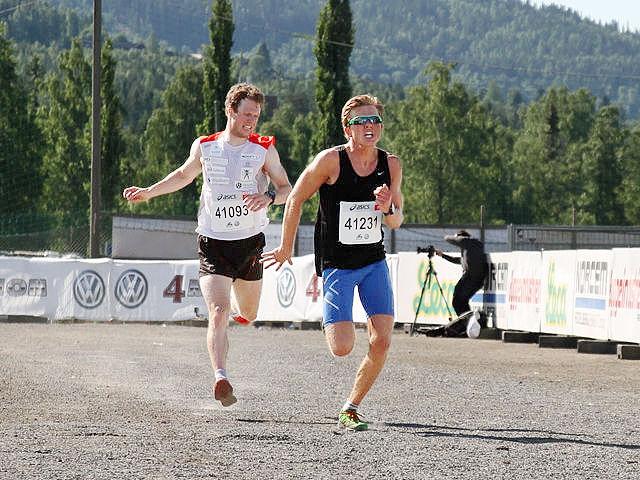 Petter Soleng Skinstad satset på å forsvare fjorårsseieren, men ble slått med to sekunder av Stian Christoffersen på oppløpssiden. (Foto: Finn Olsen)