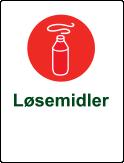 Symbol løsemidler