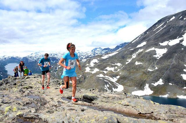 Eemilie Forsberg gledet seg stort over å kunne løpe Besseggløpet. Foto: Forsbergs Instagram-konto