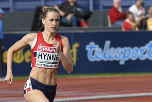 Hedda Hynne , her fra kvalifiseringsheatet i Amsterdam 2016. (Foto: Bjørn Johannessen)