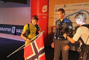Lars Erik Skjervheim i mål i Honndalshallen i 2016. Foto: Arve Haugland.
