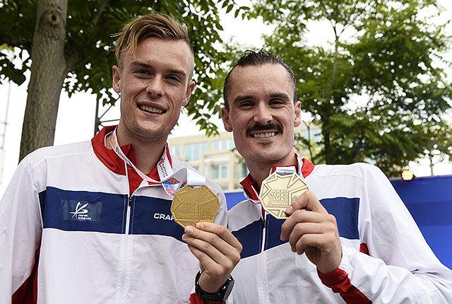 Filip og Henrik Ingebrigtsen imponerte ved å ta gull og bronse på 1500 m i årets EM. (Foto: Bjørn Johannessen)