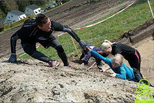 Hinderløpsporten, - en perfekt måte å binde familien (Foto: Marius Johannesen)