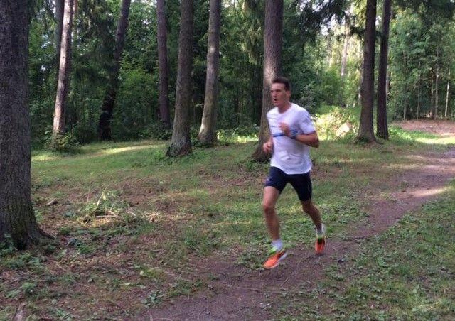 Johan Edin var med 9.19 i en klasse for seg på den 2,9 km lange løypa  i Ankerskogen. (Foto: Morten Ronning)