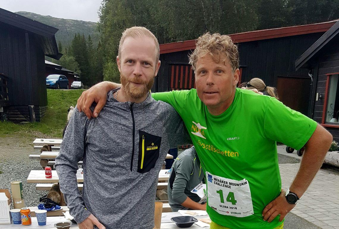 Vinner Morten Auset og andremann Hallgeir Martin Lundemo etter målgang (foto tilsendt av Auset).