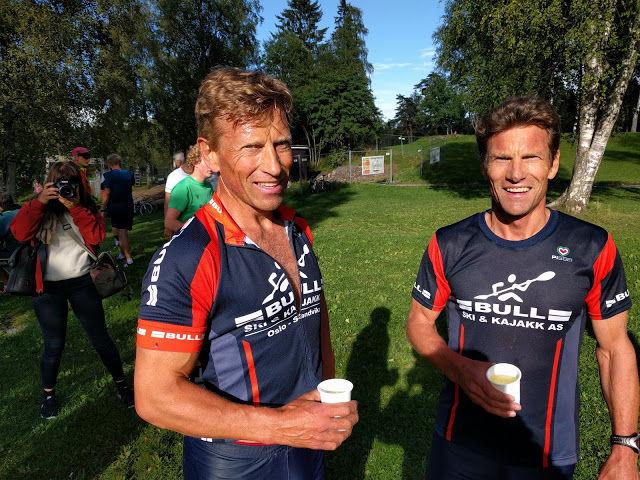 Knut og Andreas Engebretsen tok dobbeltseier på Sognsvann Rundt Medsols onsdag kveld.