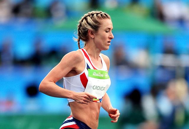 Karoline Bjerkeli Grøvdal løp inn til en niendeplass i det meget sterke 10 000 m-feltet i OL. (Foto: Mark Shearman)