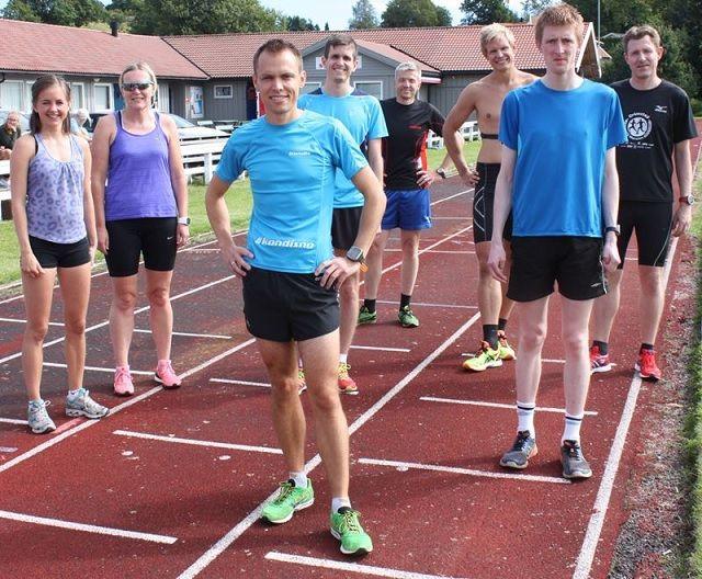 10000 m feltet før start