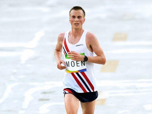 Sondre Norstad Moen topper halvmaratonlista for menn. Bildet er fra maratonløpet i OL i Rio 2016. (Foto: Mark Shearman)