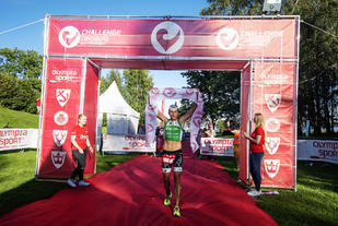 Filip Ospaly kan triumfere på målstreken. (Arrangørfoto)
