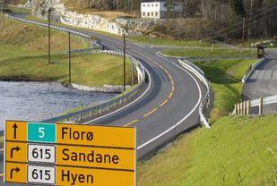 De fire landeveisløpene i løpskarusellen har start og målgang på Storebru i Sogn og Fjordane.