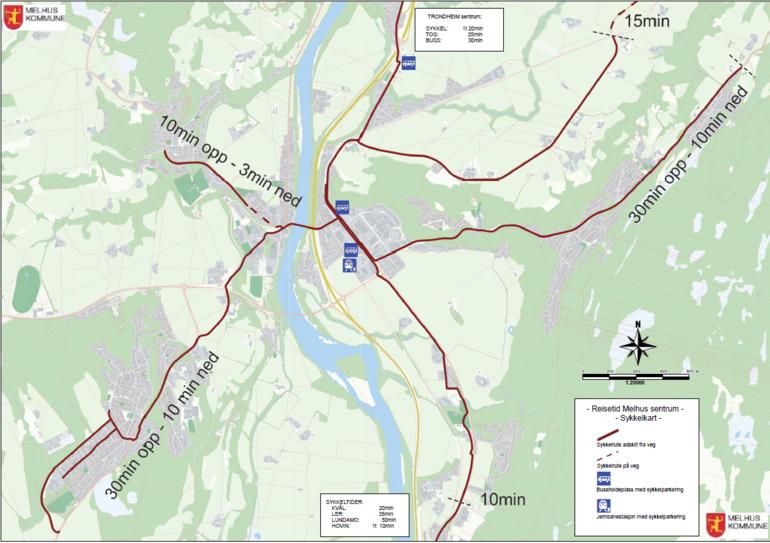 kart melhus kommune På sykkel i Melhus   Melhus kommune